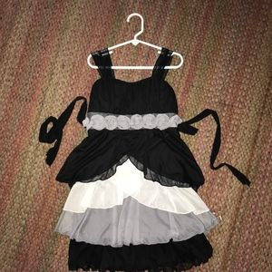 Other - Sophisticated party dress, black and grey, size 5